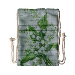 On Wood May Lily Of The Valley Drawstring Bag (Small)