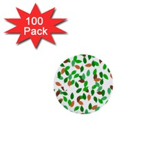 Leaves True Leaves Autumn Green 1  Mini Buttons (100 pack)