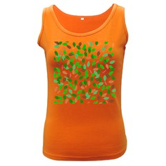 Leaves True Leaves Autumn Green Women s Dark Tank Top