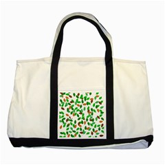 Leaves True Leaves Autumn Green Two Tone Tote Bag