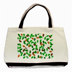 Leaves True Leaves Autumn Green Basic Tote Bag (Two Sides)
