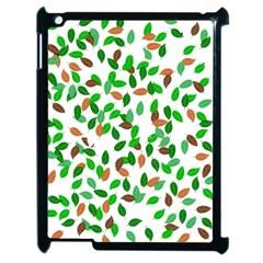 Leaves True Leaves Autumn Green Apple iPad 2 Case (Black)
