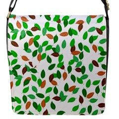 Leaves True Leaves Autumn Green Flap Messenger Bag (S)