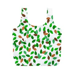Leaves True Leaves Autumn Green Full Print Recycle Bags (M)