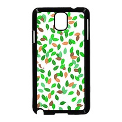 Leaves True Leaves Autumn Green Samsung Galaxy Note 3 Neo Hardshell Case (Black)