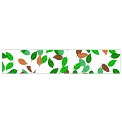 Leaves True Leaves Autumn Green Flano Scarf (Small)