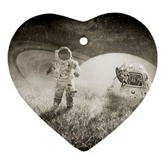 Astronaut Space Travel Space Ornament (heart)