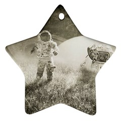 Astronaut Space Travel Space Ornament (Star)