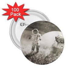 Astronaut Space Travel Space 2 25  Buttons (100 Pack)
