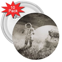 Astronaut Space Travel Space 3  Buttons (10 pack)