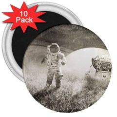Astronaut Space Travel Space 3  Magnets (10 pack)