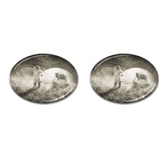 Astronaut Space Travel Space Cufflinks (Oval)