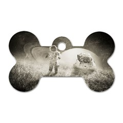 Astronaut Space Travel Space Dog Tag Bone (one Side)