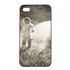 Astronaut Space Travel Space Apple iPhone 4/4s Seamless Case (Black)