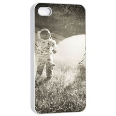Astronaut Space Travel Space Apple iPhone 4/4s Seamless Case (White)