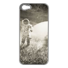 Astronaut Space Travel Space Apple iPhone 5 Case (Silver)