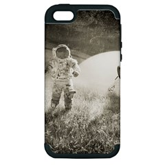 Astronaut Space Travel Space Apple iPhone 5 Hardshell Case (PC+Silicone)