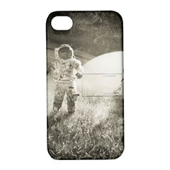 Astronaut Space Travel Space Apple iPhone 4/4S Hardshell Case with Stand