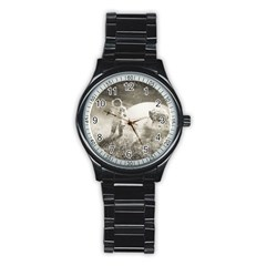 Astronaut Space Travel Space Stainless Steel Round Watch