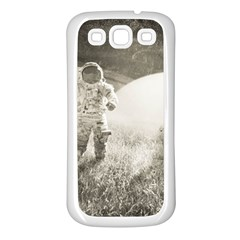 Astronaut Space Travel Space Samsung Galaxy S3 Back Case (White)