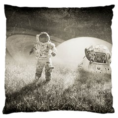 Astronaut Space Travel Space Large Flano Cushion Case (One Side)