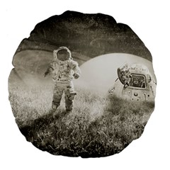 Astronaut Space Travel Space Large 18  Premium Flano Round Cushions