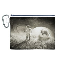 Astronaut Space Travel Space Canvas Cosmetic Bag (L)