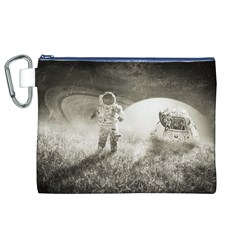 Astronaut Space Travel Space Canvas Cosmetic Bag (xl)