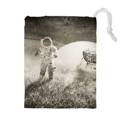 Astronaut Space Travel Space Drawstring Pouches (extra Large)
