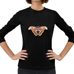 Butterfly Animal Insect Isolated Women s Long Sleeve Dark T Shirts