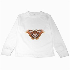 Butterfly Animal Insect Isolated Kids Long Sleeve T Shirts