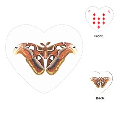 Butterfly Animal Insect Isolated Playing Cards (Heart)