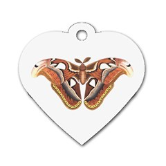 Butterfly Animal Insect Isolated Dog Tag Heart (One Side)