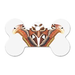 Butterfly Animal Insect Isolated Dog Tag Bone (Two Sides)