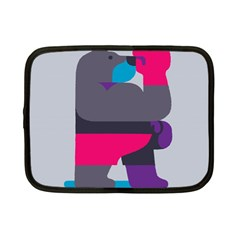 Strong Bear Animals Boxing Red Purple Grey Netbook Case (Small)