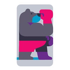 Strong Bear Animals Boxing Red Purple Grey Memory Card Reader