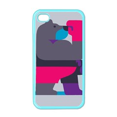 Strong Bear Animals Boxing Red Purple Grey Apple iPhone 4 Case (Color)
