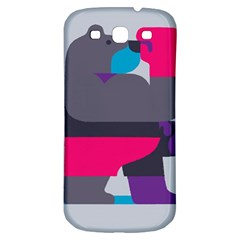 Strong Bear Animals Boxing Red Purple Grey Samsung Galaxy S3 S III Classic Hardshell Back Case