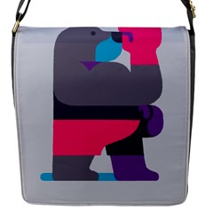 Strong Bear Animals Boxing Red Purple Grey Flap Messenger Bag (s)