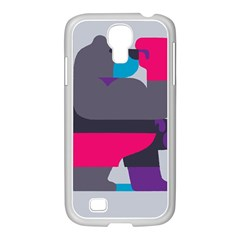 Strong Bear Animals Boxing Red Purple Grey Samsung GALAXY S4 I9500/ I9505 Case (White)