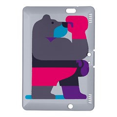 Strong Bear Animals Boxing Red Purple Grey Kindle Fire HDX 8.9  Hardshell Case