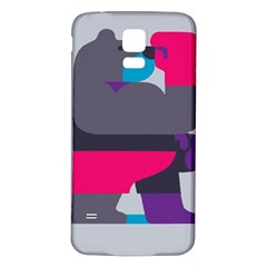 Strong Bear Animals Boxing Red Purple Grey Samsung Galaxy S5 Back Case (White)