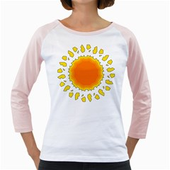 Sun Hot Orange Yrllow Light Girly Raglans