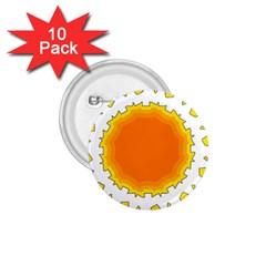 Sun Hot Orange Yrllow Light 1.75  Buttons (10 pack)