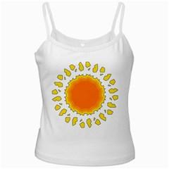 Sun Hot Orange Yrllow Light Ladies Camisoles