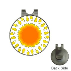 Sun Hot Orange Yrllow Light Hat Clips With Golf Markers