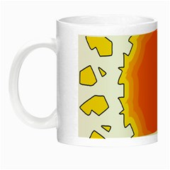 Sun Hot Orange Yrllow Light Night Luminous Mugs