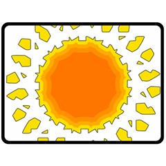 Sun Hot Orange Yrllow Light Fleece Blanket (Large)