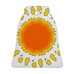 Sun Hot Orange Yrllow Light Ornament (bell)
