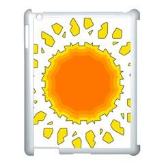 Sun Hot Orange Yrllow Light Apple iPad 3/4 Case (White)